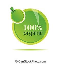 Organische grüne Naturvektor-Illustration