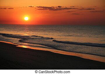 Ostküsten Beach Sonnenaufgang