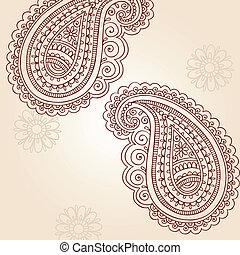 Paisley Henna-Doodles Vektor