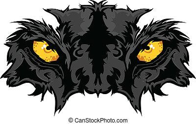 Pantheraugen maskottisch
