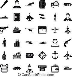 Panzer-Icons gesetzt, einfache Stil