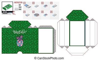 papier, lila, kasten, papillon, grün, schablone