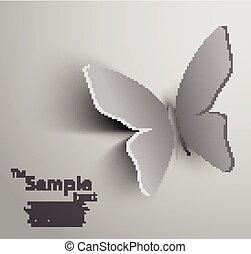 papier, papillon, ausschneiden