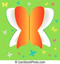 Papier Schmetterling.