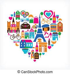 Pars Love - Vektor illustriert mit Ikonen