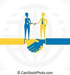 partnerschaft, verwandte, oder, geschaeftswelt