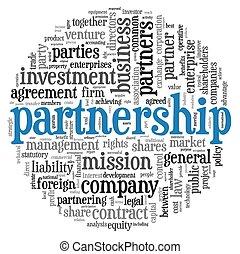Partnerschaftskonzept in Tag Cloud
