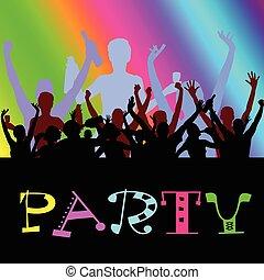 Party-Leute tanzenden Vektor
