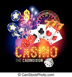 party, vektor, kasino