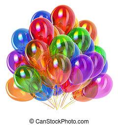 Partyballons bunt, Geburtstagsdekor multicolored