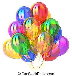 Partyballons Geburtstagsdekor multicolored glossy