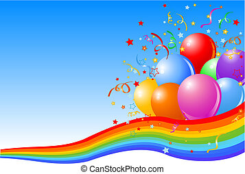 Partyballons Hintergrund