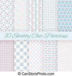 Pastel-Retro unterschiedliche Vektor- nahtlose Muster