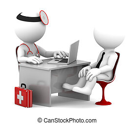 patient, buero, doktor, medizin, sprechende , consultation.