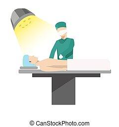 patient, doktor, prozess, medizinische abbildung, betrieb