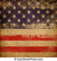 patriotisch, hintergrund., amerikanische , grunge, thema