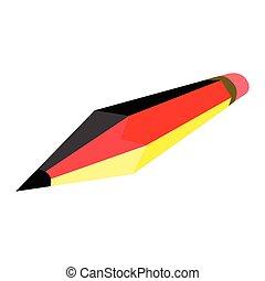 Pencil mit der Flagge Deutschlands.