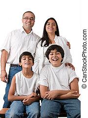 Perfekte indische Familie.