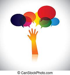 person, auch, begriff, not, hilfe, leute, dieser, liebe, abstrakt, suchend, vektor, bitten, usw, oder, grafik, hilfe, vertritt, sorgfalt, unterstuetzung, soccour, assistance.
