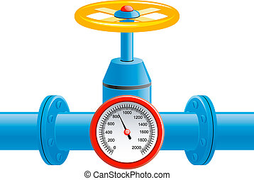 pfeife, druck, ventil, gas, meter