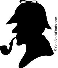 pfeife, silhouette, raucher