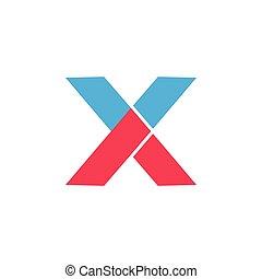 pfeil, brief, dynamisch, vektor, geometrisch, logo, x