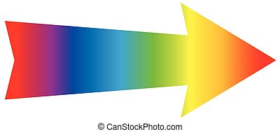Pfeil Regenbogenfarbe