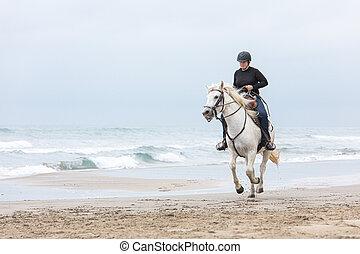 Pferd besteigt frau