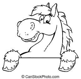 pferd, umrissen