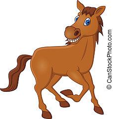 Pferdekarikatur