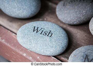 Pflaster mit Worten. Inspirierende Steine