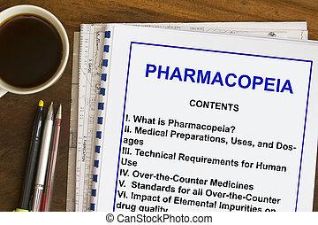 pharmacopeia, betäuben industrie