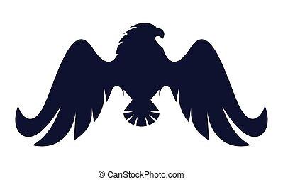 phoenix, emblem, silhouette