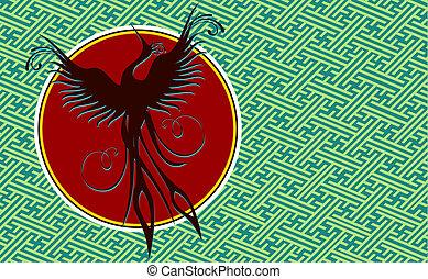 Phoenix Vogel-Hintergrund