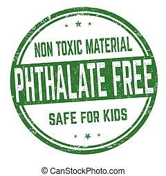 phthalate, zeichen, briefmarke, frei, oder