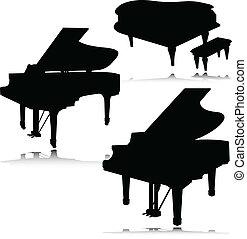 Piano Vektorsilhouette