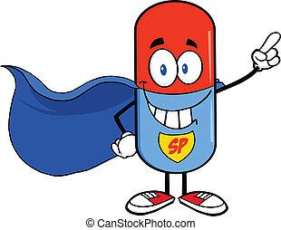 Pillenkapsel-Superheld