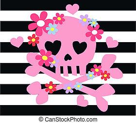 Pinke Küchenknochen, Blumen