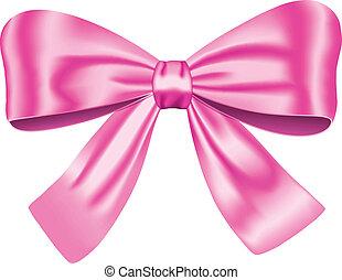 Pinker Geschenkbogen
