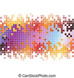 pixel, abstrakt, hintergrund, bunte, digital
