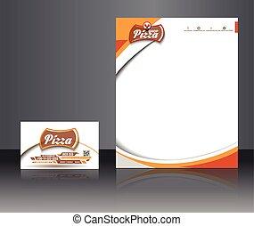 Pizza-Shop Firmenidentität.