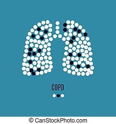 plakat, copd, bewusstsein, pillen