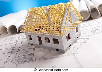 plan, werkzeuge, architektur, &