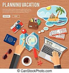 Plane Urlaubskonzept.