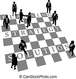 Planung der Strategie für menschliche Schachfiguren
