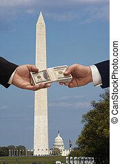 politik, &, geld