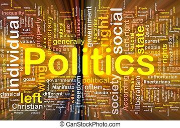 Politische soziale Hintergründe leuchten.