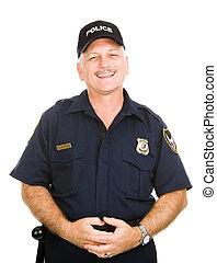 Polizeibeamter freundlich.