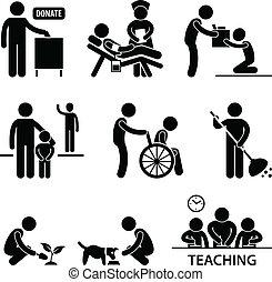 portion, spende, wohltätigkeit, freiwilliger