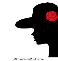 Porträt eines jungen Frauenprofils